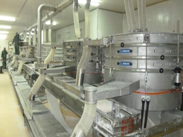 2010年购买的12台筛机的使用现场